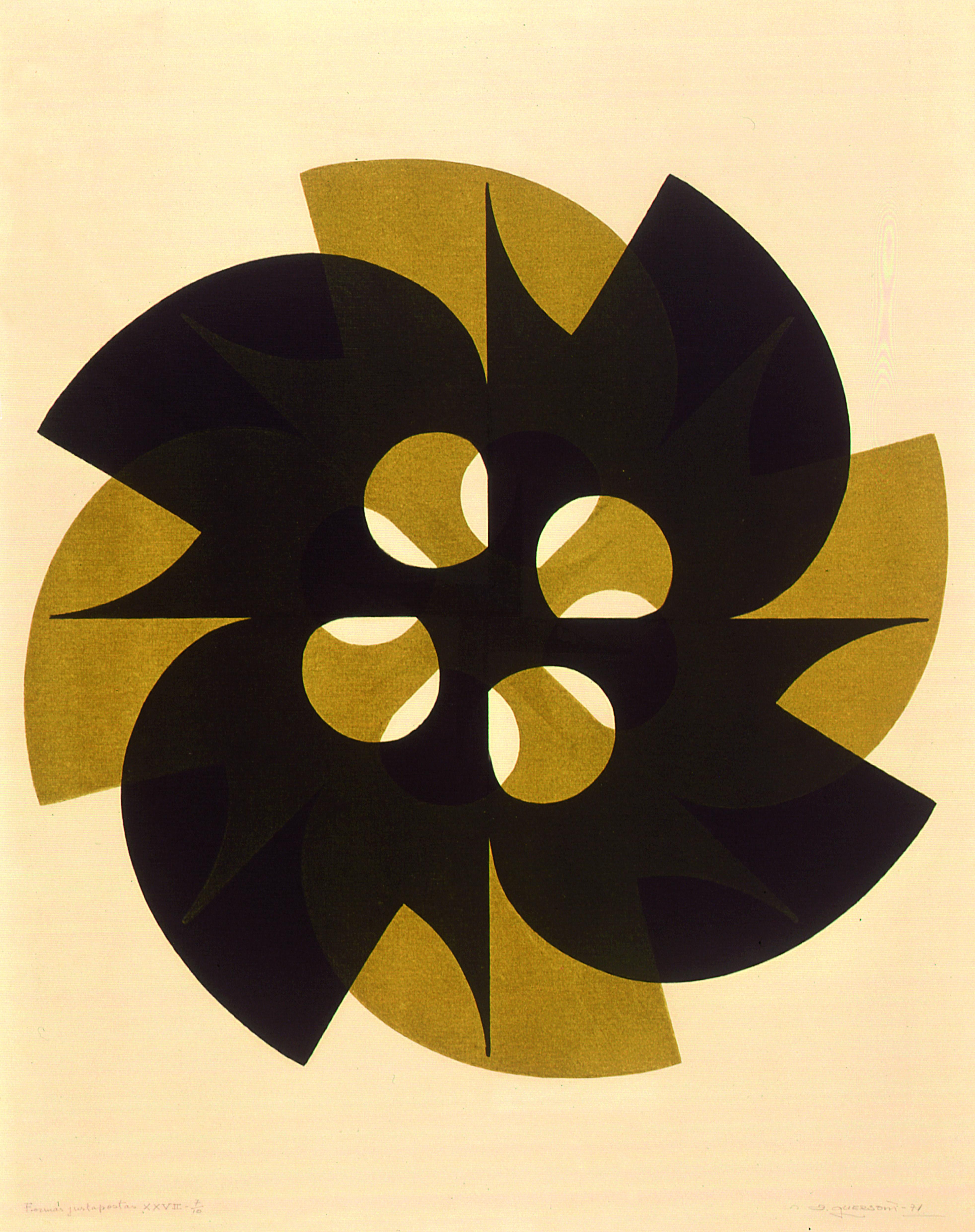 Formas Justapostas Autor: Odetto Guersoni Ano:1971 Técnica: Serigrafia Dimensão:78cm x 63cm