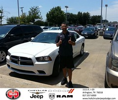 #HappyAnniversary to Heron Tello on your 2013 #Dodge #Charger from Oscar Arroyos at Holt Chrysler Jeep Dodge!