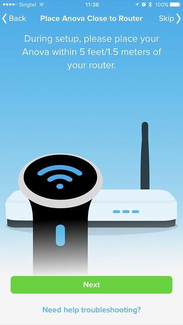 Anova Wi-Fi iOS App - Wi-Fi Setup #2
