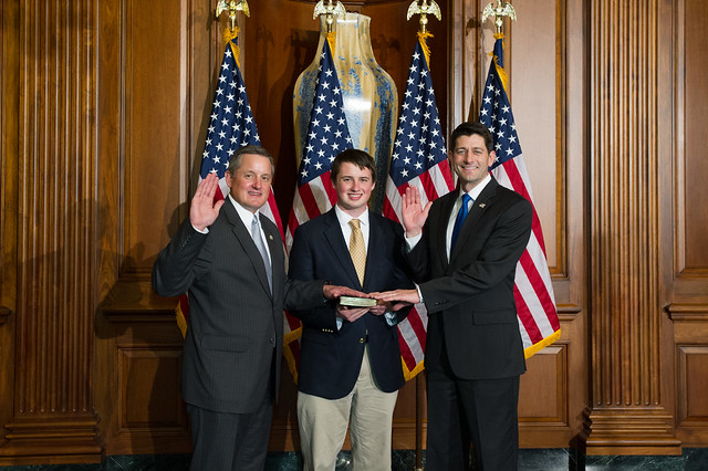 Ceremonial Swearing In For The 115th Congress Pictured L To R Congressman