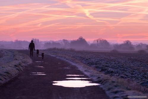 stapleford england unitedkingdom cambridge cambridgeshire frost sunrise