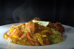 Balti Chicken Tikka Jalfrezi, Keema Rice, Onion Bhaji