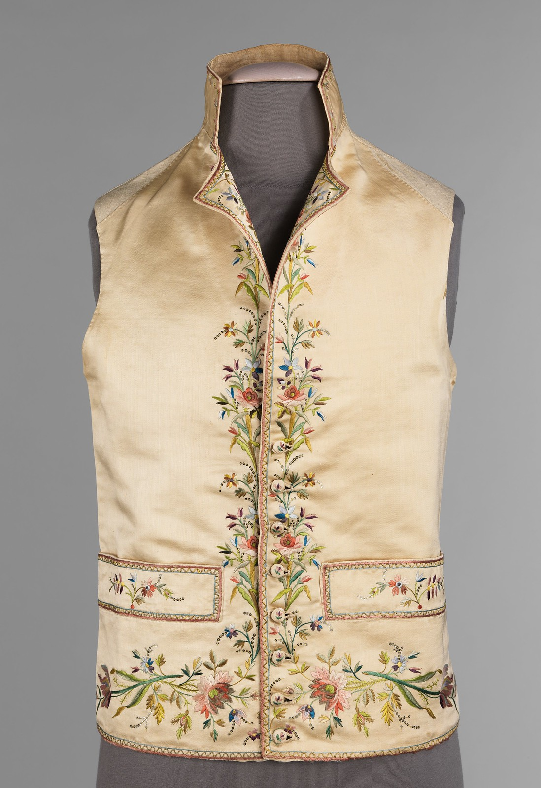 1800. French. silk, linen, metal, cotton. metmuseum