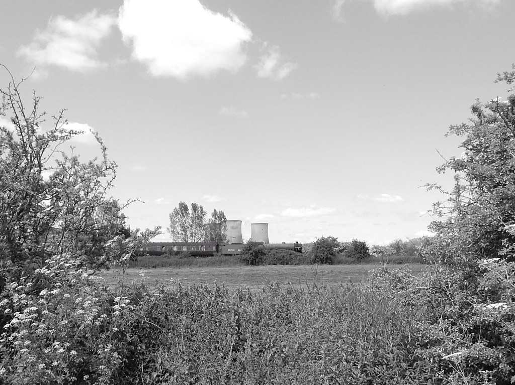 Steam train through Didcot Taken this century.. .camera accidentally switched to B and ;W Didcot Circular