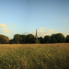 Trinity Church from Brockwell Park in Brixton at sunset.