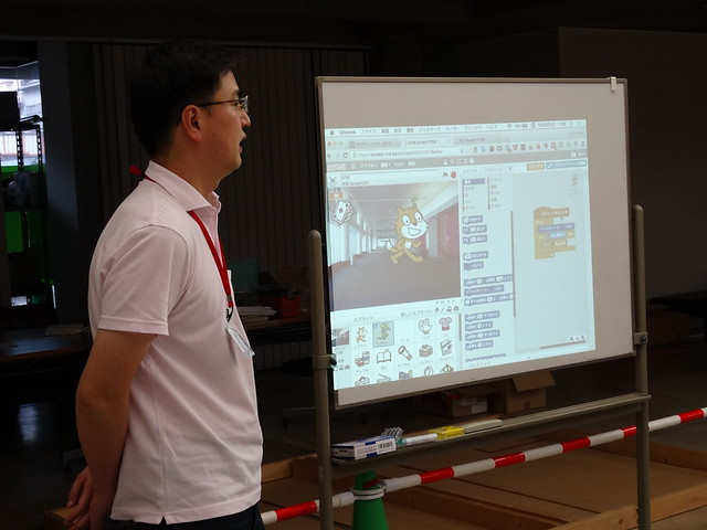 親子プログラミング教室 スクラッチ画面