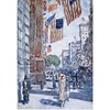 We wish everyone a happy ‪#‎4thofJuly‬! We're open today 11am-5pm. [Flags, Fifth Avenue, Childe Hassam, 1918, watercolor. Dallas Museum of Art, Munger Fund, in memory of Mrs. George Aldredge]