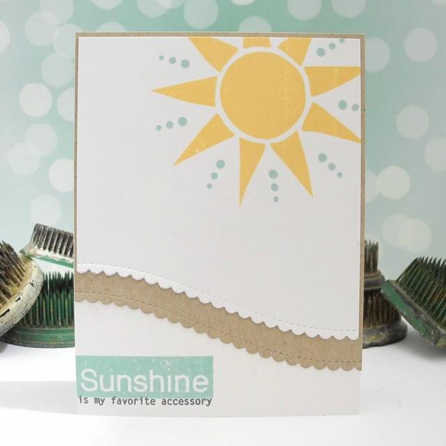 Sunshine is My Favorite Accessory by Jennifer Ingle #JustJingle #SimonSaysStamp #SSSSplashOfColor