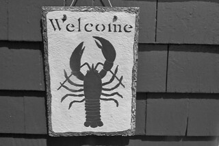 Maine - Welcome sign