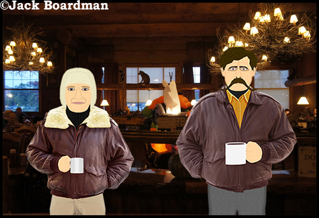 Chris and Wyatt at Moosejaw Pizza