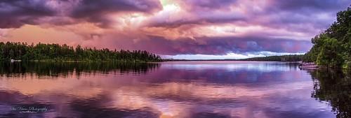 sunset lake colors wisconsin minongflowage