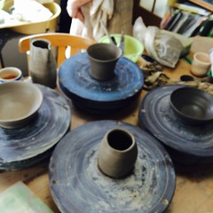 art, pottery, potter's wheel,