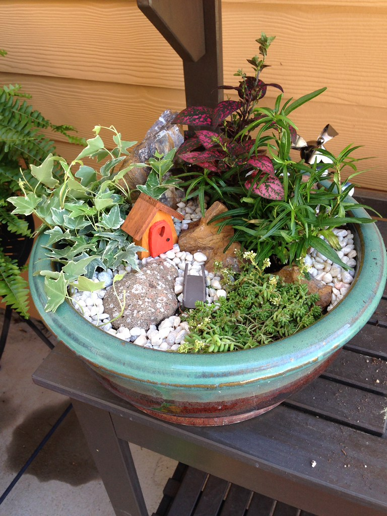 High Quality My First Attempt At A Fairy Garden Patio Accents Guide How To Decorate  Outdoor Space Exterior