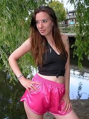 Soft silky shorts