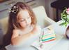 Little princess eating rainbow cake. by locrifa