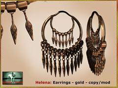 Bliensen - Helena - earrings - gold