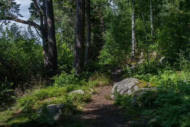 Coastal trail on Vaxholm