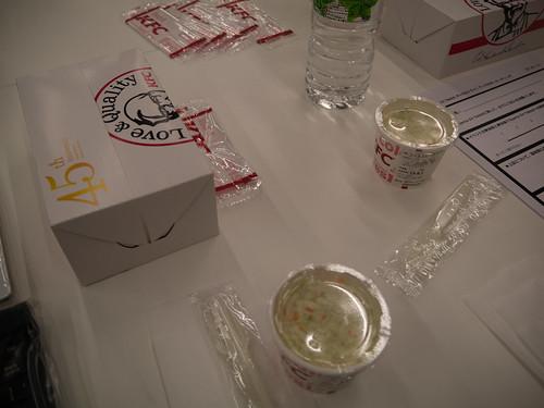 Xperia アンバサダー ミーティング 今回の食事はケンタッキー