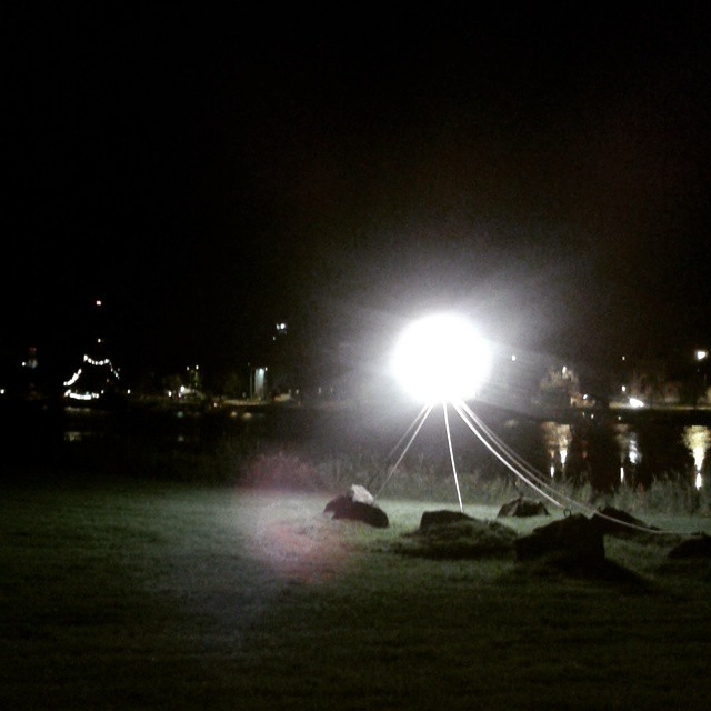 After the #festival #pori #kirjurinluoto #kirvatsi #river #lights bad camera