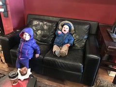 I catch up to the twins at the coffee shop today and they are happy to see me