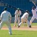 Fielders watch Kyle Hope bat