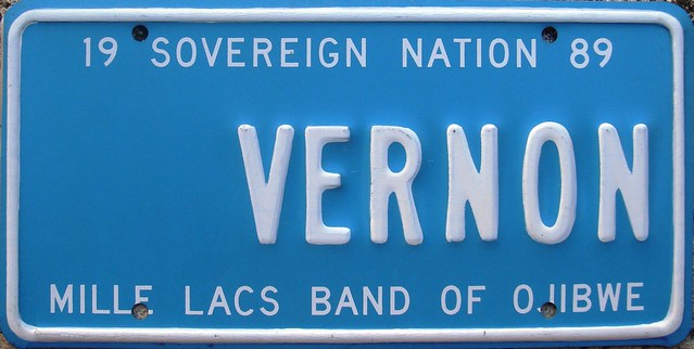 Mille Lacs Band Ojibwe Vanity License Plate