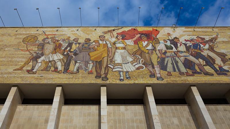 'The Albanians' Mural - Tirana