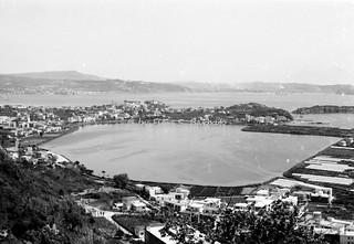 Monte di Procida (NA), 1968, Vista su Bacoli, e il Lago Miseno.