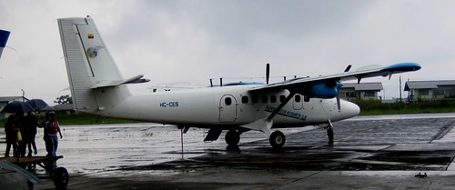 ecuador amazon airport airplane aeroplane aircraft february 2006 shellmera twinotter