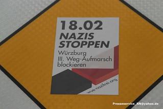 2017-02-18 Wuerzburg Der Dritte Weg und Proteste (1)