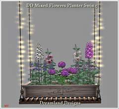 DD Mixed Flowers Planter Swing Vendor
