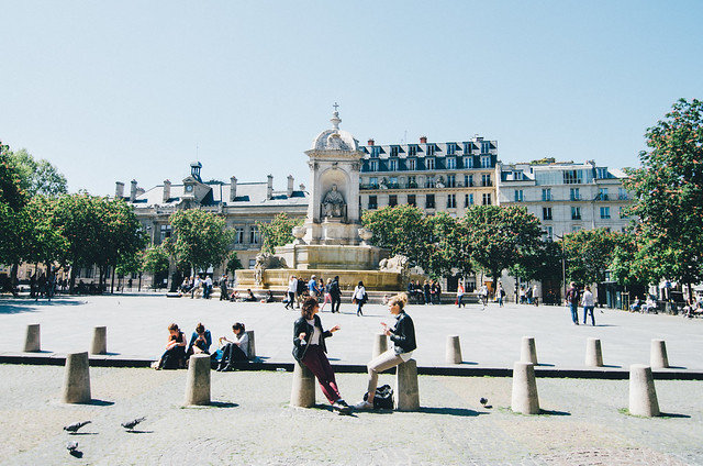 Find the Church of Saint-Sulpice in the Saint-Germain-des-Prés neighborhood in the 6th arrondissement.