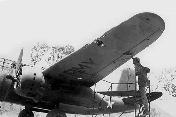 Inspecting Margie's Damaged Wing