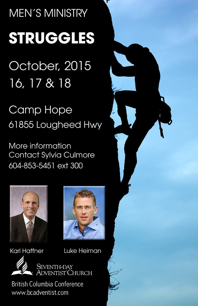 MEN'S MINISTRY - STRUGGLES - October 16, 17 & 18