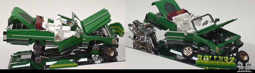 Cadillac Lowrider Display in Lego 1:10