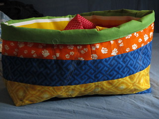 fabric basket for a swap (other side)