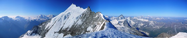 The Weisshorn viewed from the Bishorn Summit