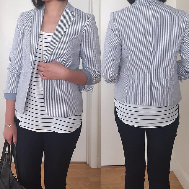 Ann Taylor Seersucker Jacket
