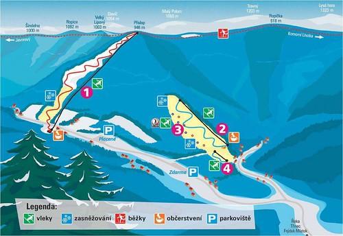Řeka - mapa sjezdovek