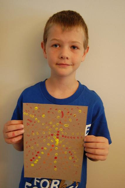 2 Aboriginal Dot Painting - O