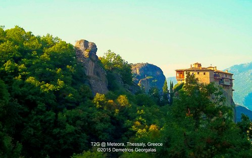 sky sun green landscape sandstone rocks europe shadows religion landmark greece meteora monasteries kalabaka thessaly monasticcommunity picmonkey