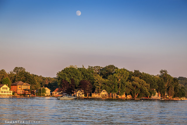The Moon Over Saratoga Lake