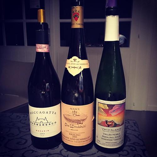 Voilà ce que j'appelle une belle soirée ! #vin #drinkalsace #barolo #wine