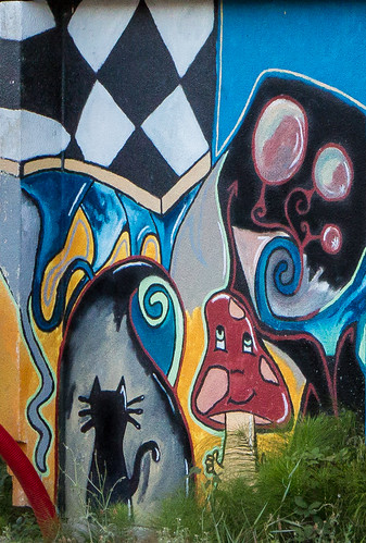 Art urbain à Morestel (détail)