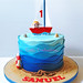 20150607_102818 wm 1st birthday boat and waves cake by Crafty Confections