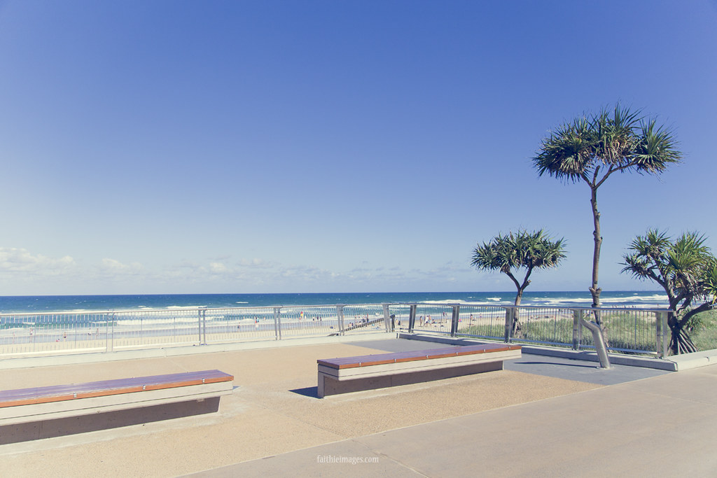 Gold Coast's gorgeous beach and promenade