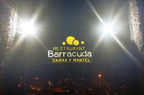 Exterior by night, Barra y Mantel, San Eugenio, Tenerife