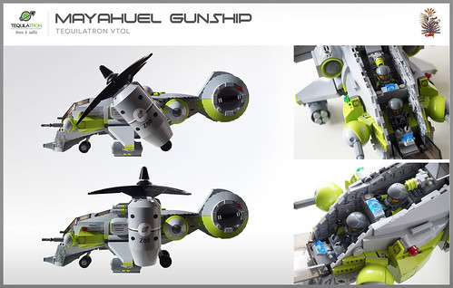 Mayahuel Gunship - DA2 - Tiltable rotors & opening cockpit