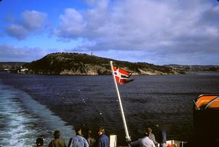 Norway  -   Leaving Kristiansand   -   On the M.F. Borgan   -   17 April 1987