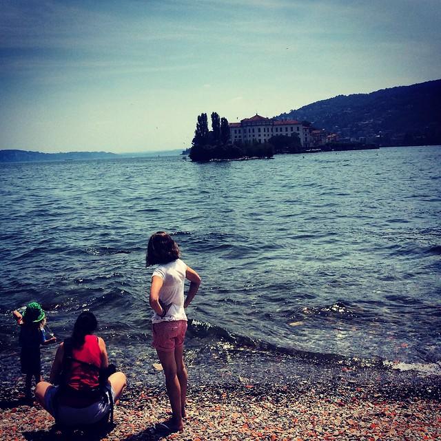 Looking over Isola Bella